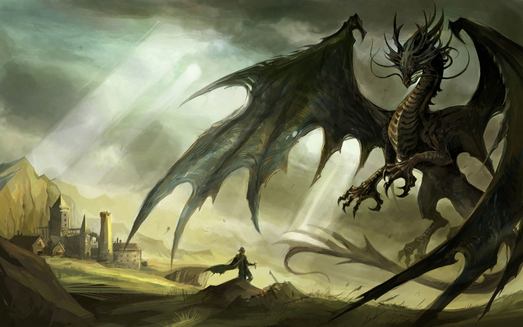 Western Dragons Were Enormous, Firebreathing Serpents That Had Scaly  Bodies And Huge Bat