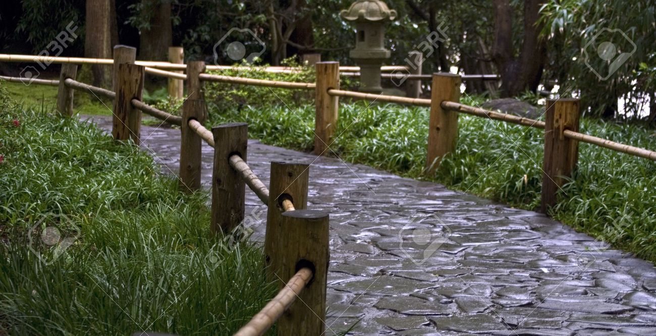 4997437 Stoned Road With The Wooden Fence In A Japanese Garden Stock Photo  (1300×667) | Dojo Environment | Pinterest | Dojo