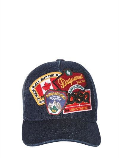 Patch Dsq2 Casquette De Baseball Denim - Bleu Dsquared2 Vusrf3O0d