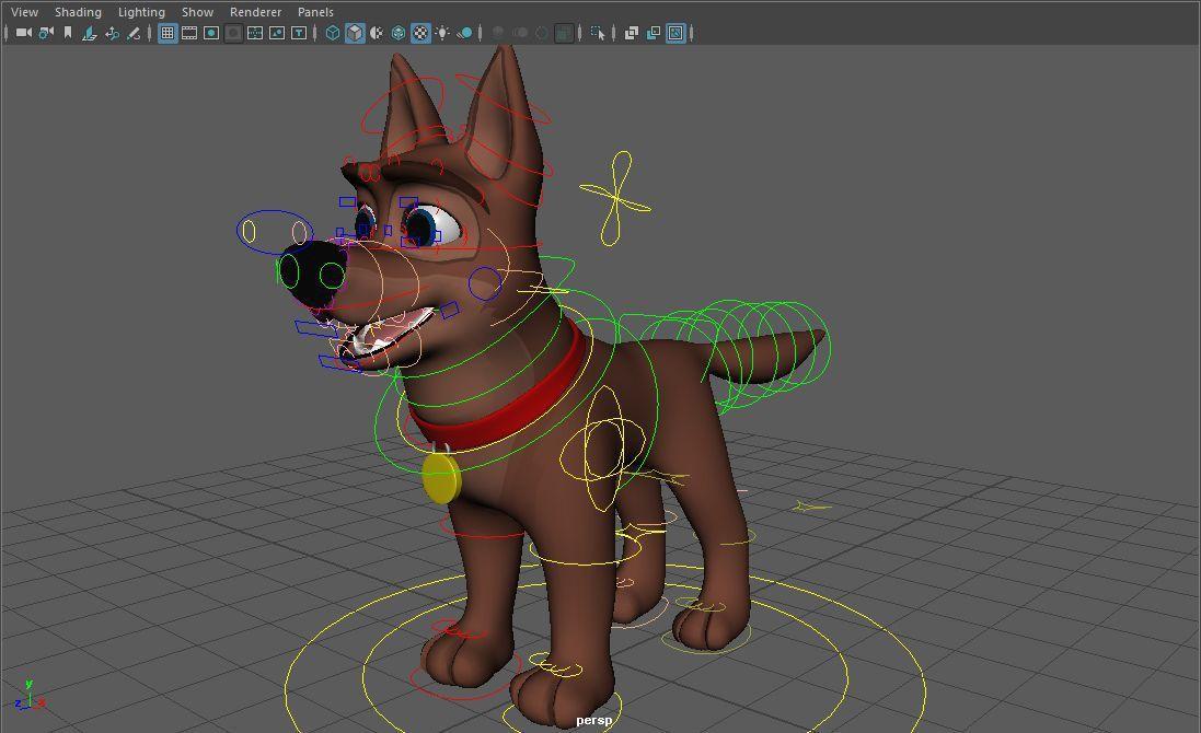 Quadraped Dog rig, Cody Dog Rig, Cody Rig, Dog Rig, Cartoon Dog Rig ...