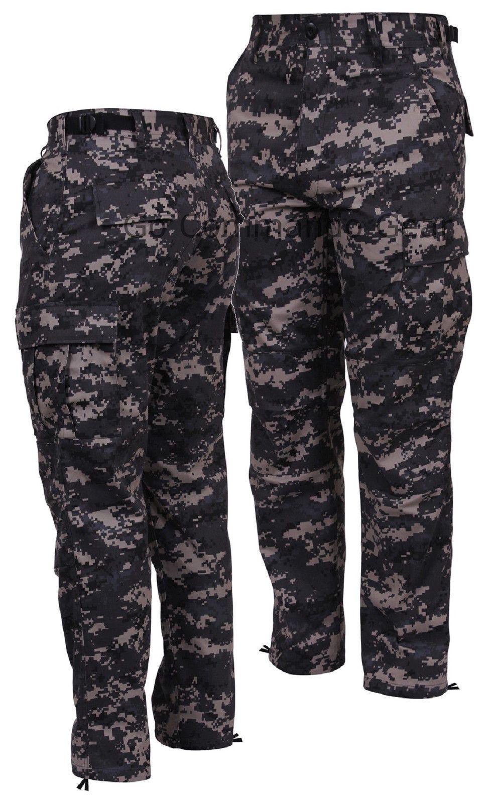 PANTS BDU BLACK TWILL 6 POCKETS Heavy Duty Twill Fabric Sizes S,M,L,XL,2X,3X