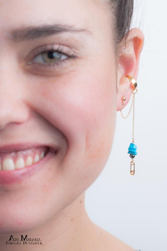 graduation gift mermaid ear cuff stars ear cuff
