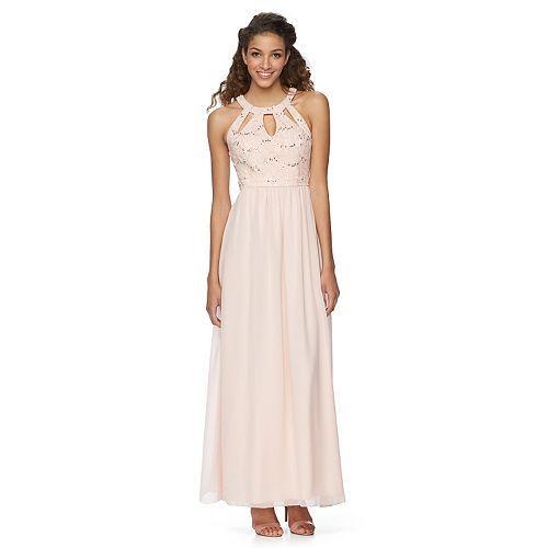 juniors' speechless long chiffon maxi dress | wedding | pinterest
