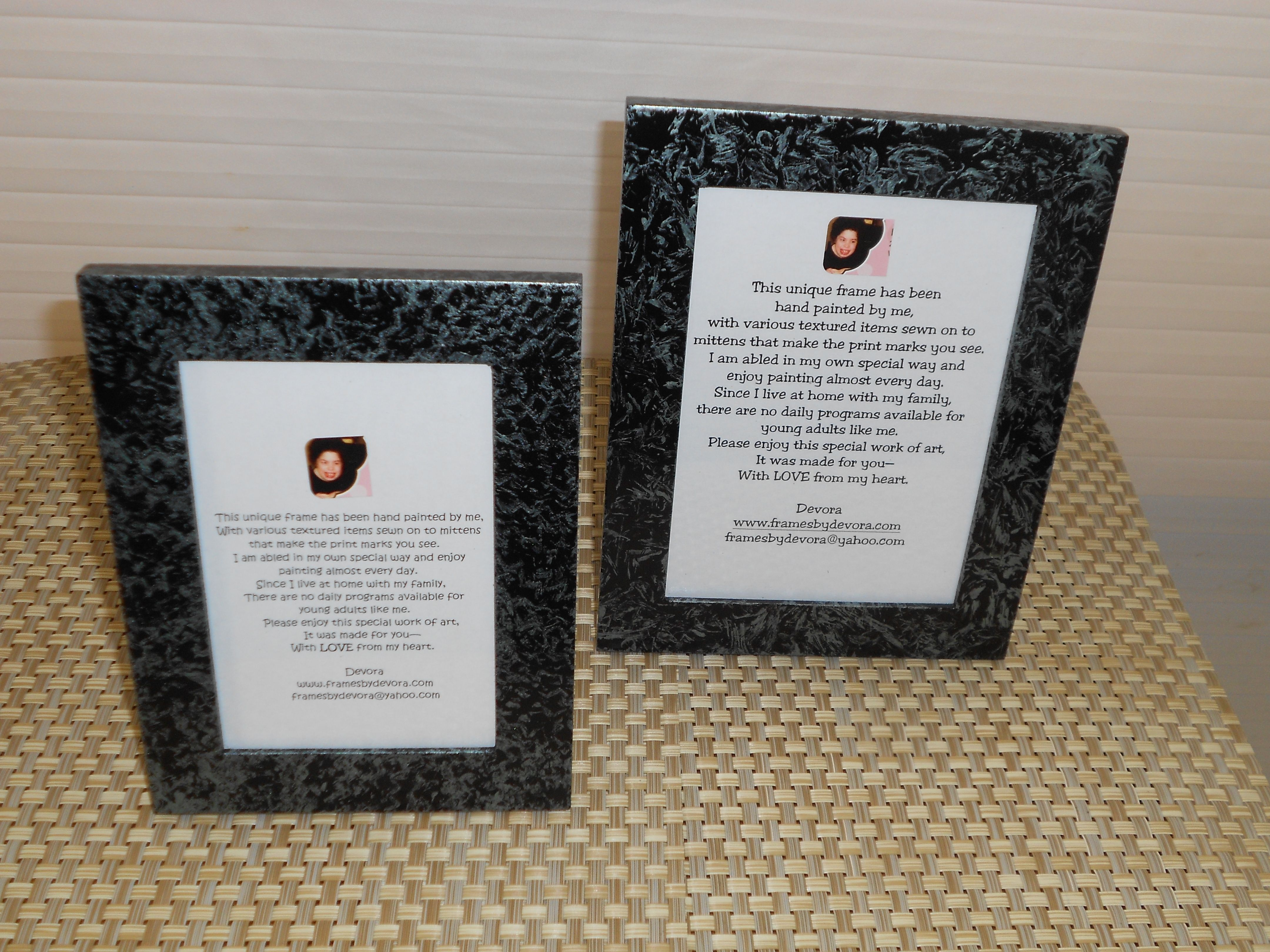 All frames are at Holiday Prices. Plain or family frames are $20 ...
