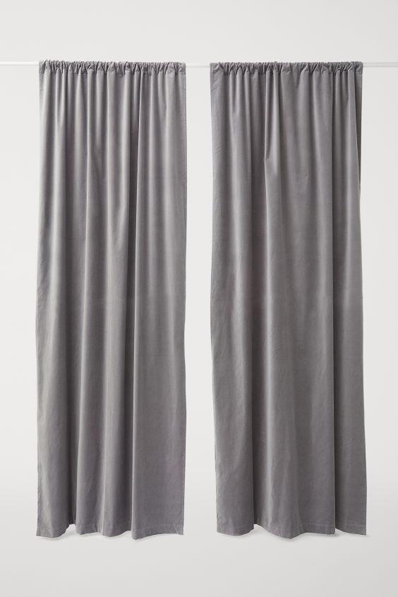 2 Pack Velvet Curtain Panels In 2020 Velvet Curtains Living Room Velvet Curtains Grey Velvet Curtains