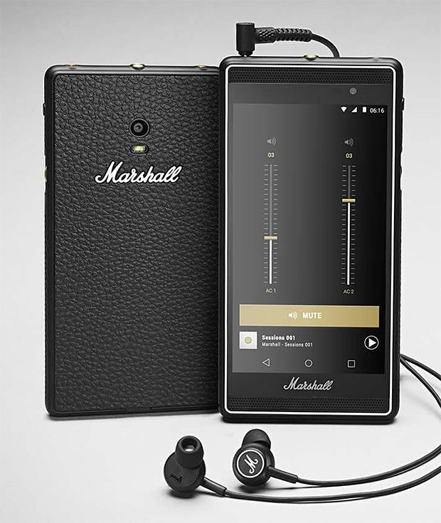 Marshall London. -- After decades of making the most recognizable amps in rock-n-roll, Marshall has turned their efforts to making an Android-powered phone designed to deliver music with a level of audio quality never-before achieved. The phone is called London and features 2 front-facing speakers for great sound even without headphones. It also features the M button, giving you instant access to your music. Volume is controlled by a manual scroll wheel, and dual stereo audio jacks allow…