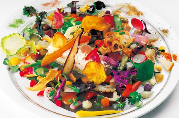 This dish is made of more than 60 vegetables in Japan.
