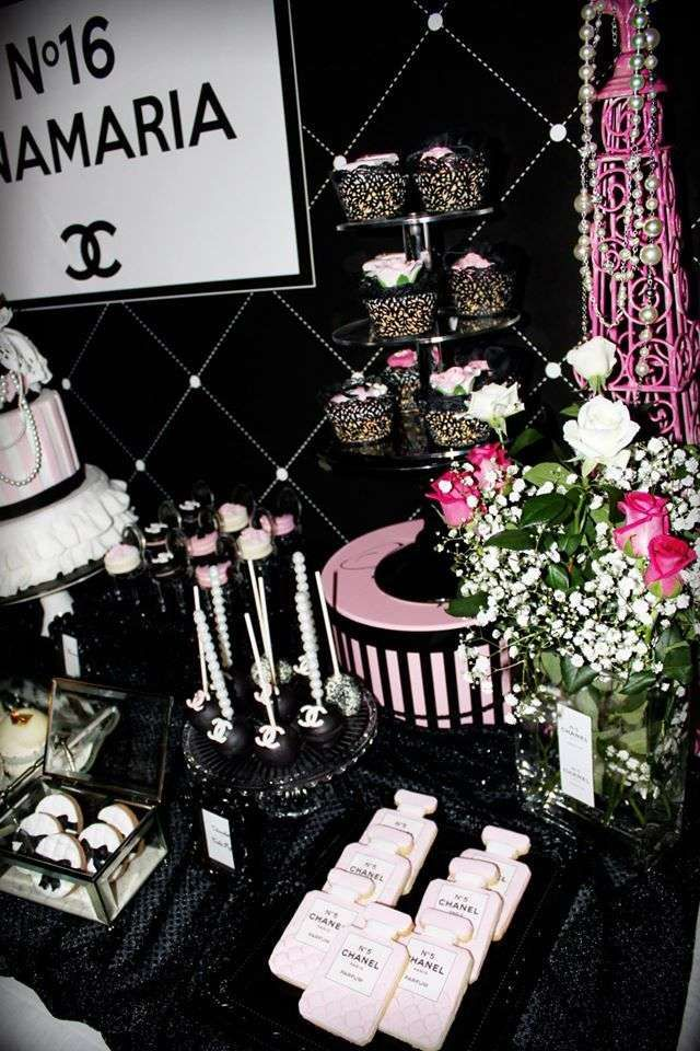 Glam Treats At A Chanel Birthday Party See More Party Ideas