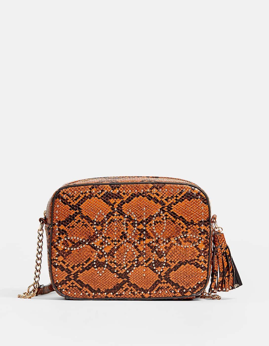 227c2034e213d Zımbalı çapraz askılı çanta - Çanta - Sırt Çantası | Stradivarius Türkiye