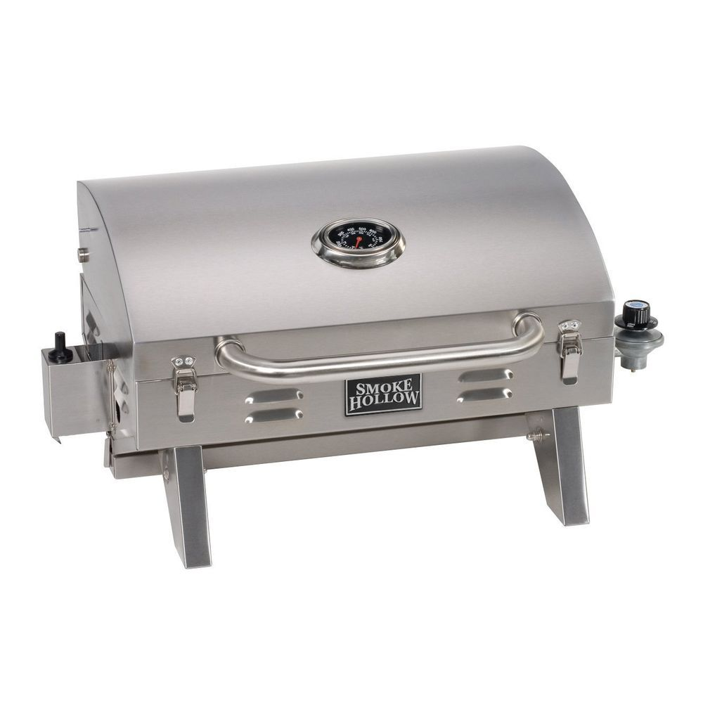 Tabletop Gas Grill Outdoor Cooking Boating Camping Stainless Steel
