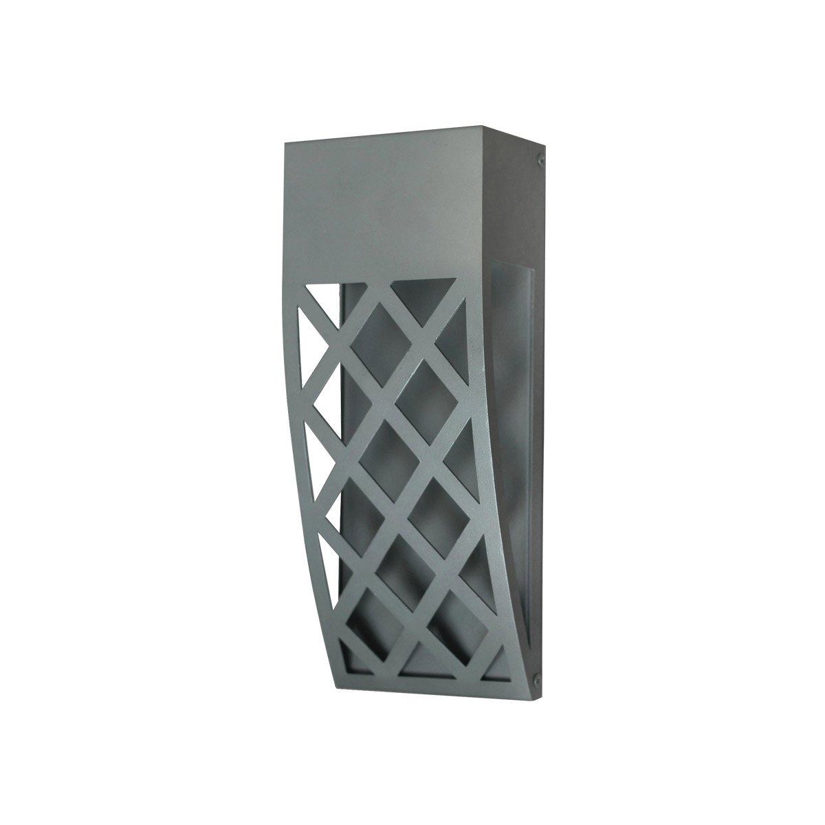 Plc lighting sl monty led inch silver outdoor wall sconce