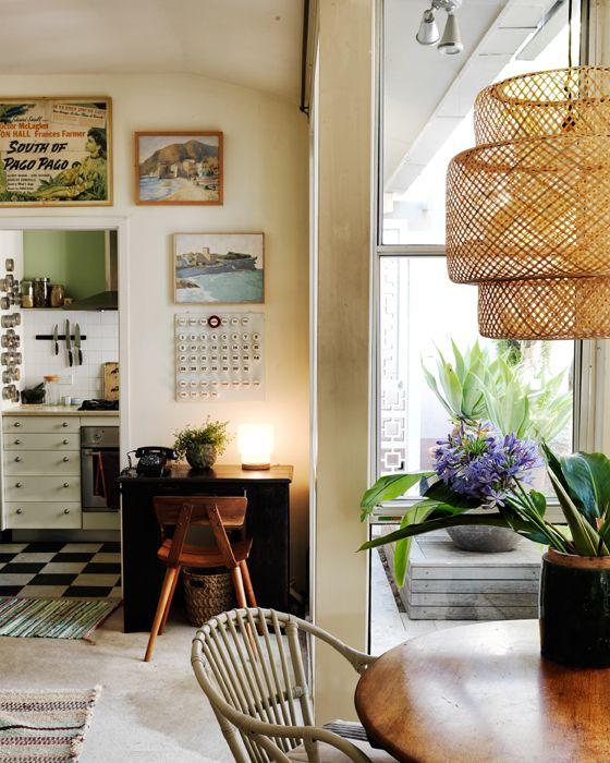 Combine móveis modernos com peças vintage