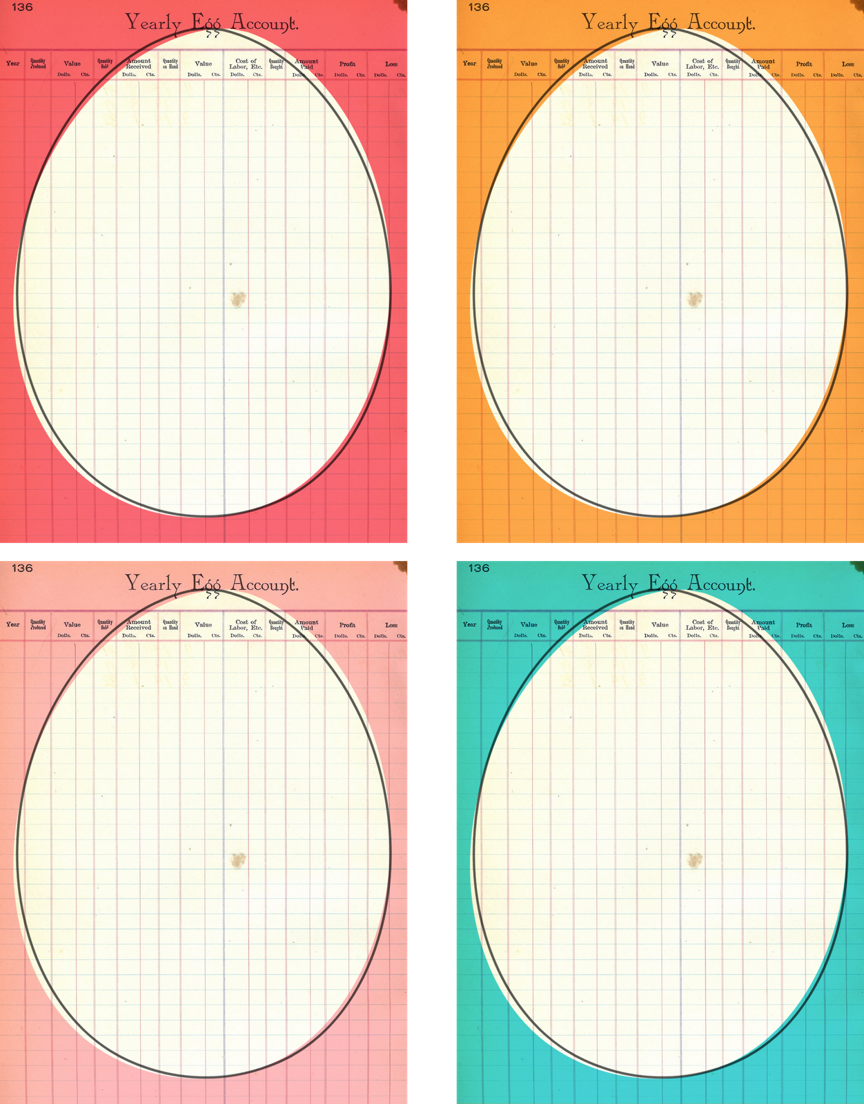 free printable #ProjectLife Easter cards