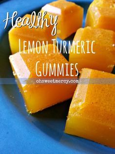 Healthy Lemon Turmeric Gummies | Oh Sweet Mercy #thm #easy #gelatin #recipes…