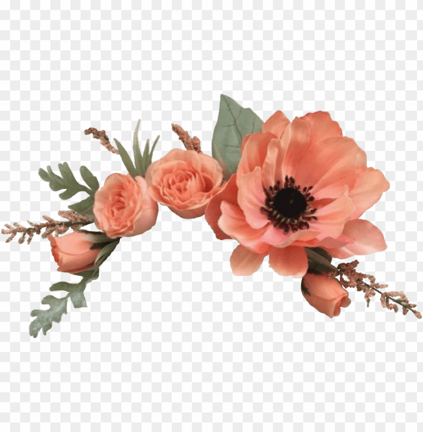 Flowers Sticker Flower Crown Png Roses Png Image With Transparent Background Png Free Png Images Crown Png Flower Clipart Vector Flowers