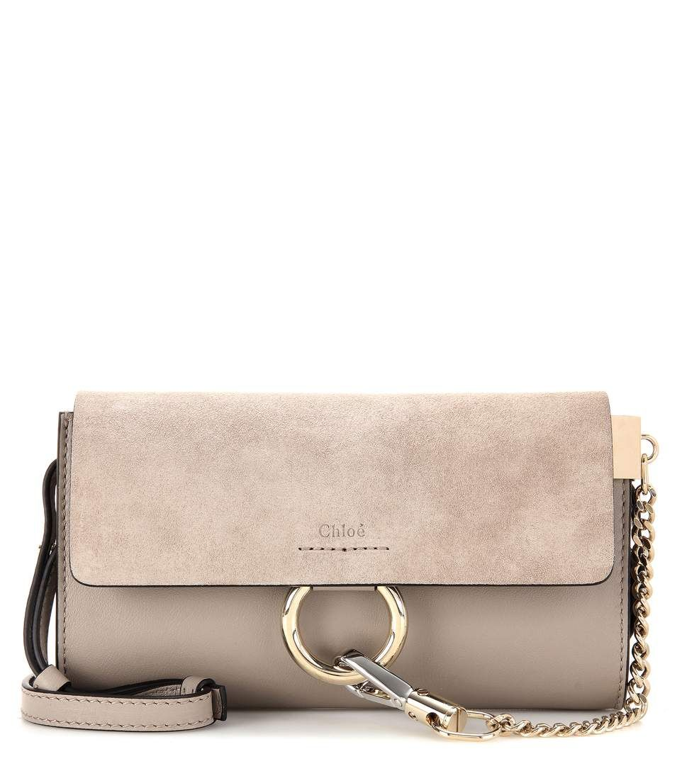 CHLOÉ Faye Mini Leather And Suede Wallet Bag.  chloé  bags  shoulder bags   wallet  lining  accessories  suede   831bbf0bb605