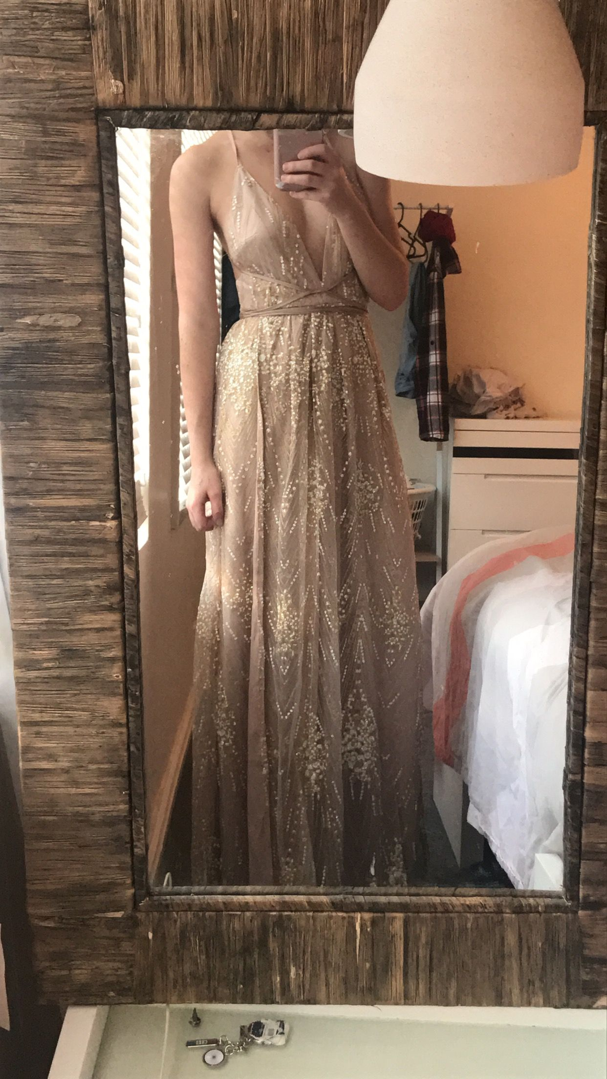 e220c1f62c New York Nights Maxi Dress In Gold Produced