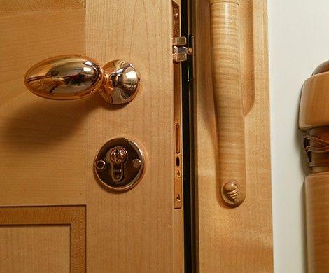 Interior Cabin Door Hardware On Sailing Yacht Scheherezade On The