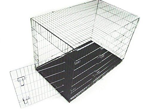 Dog Crate 48x29x32 Xlarge 2 Door Pet Kennel Cage Folding Portable