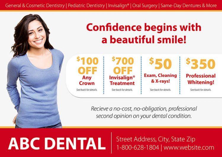 dentist new mover postcard dental postcard design template for
