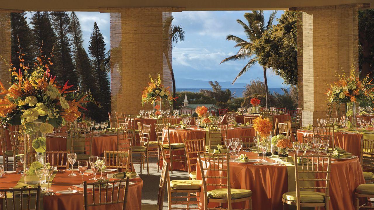 The Aloha Garden Pavilion. Ritz Carlton Kapalua Maui