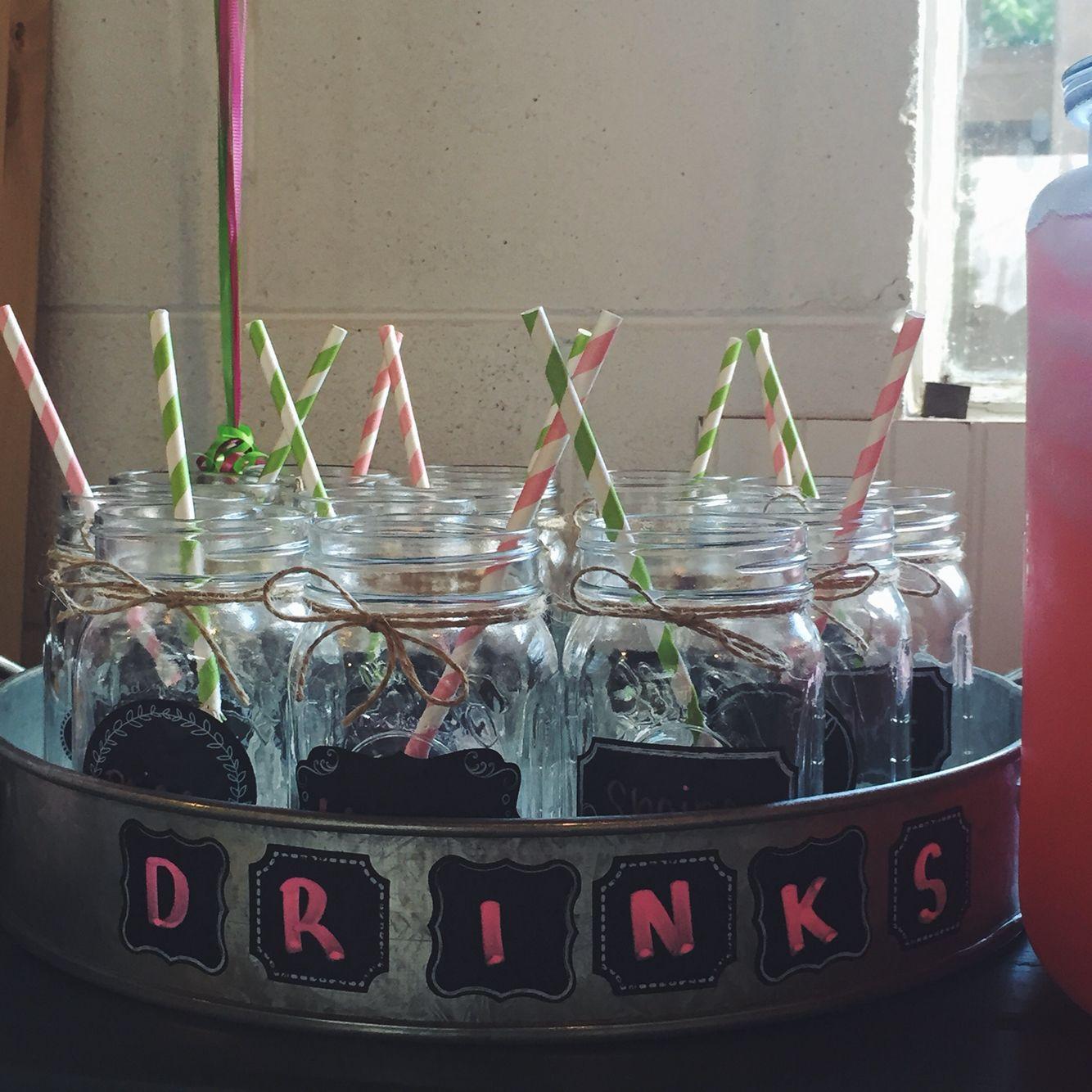 Vintage Mason jar glasses #drinks