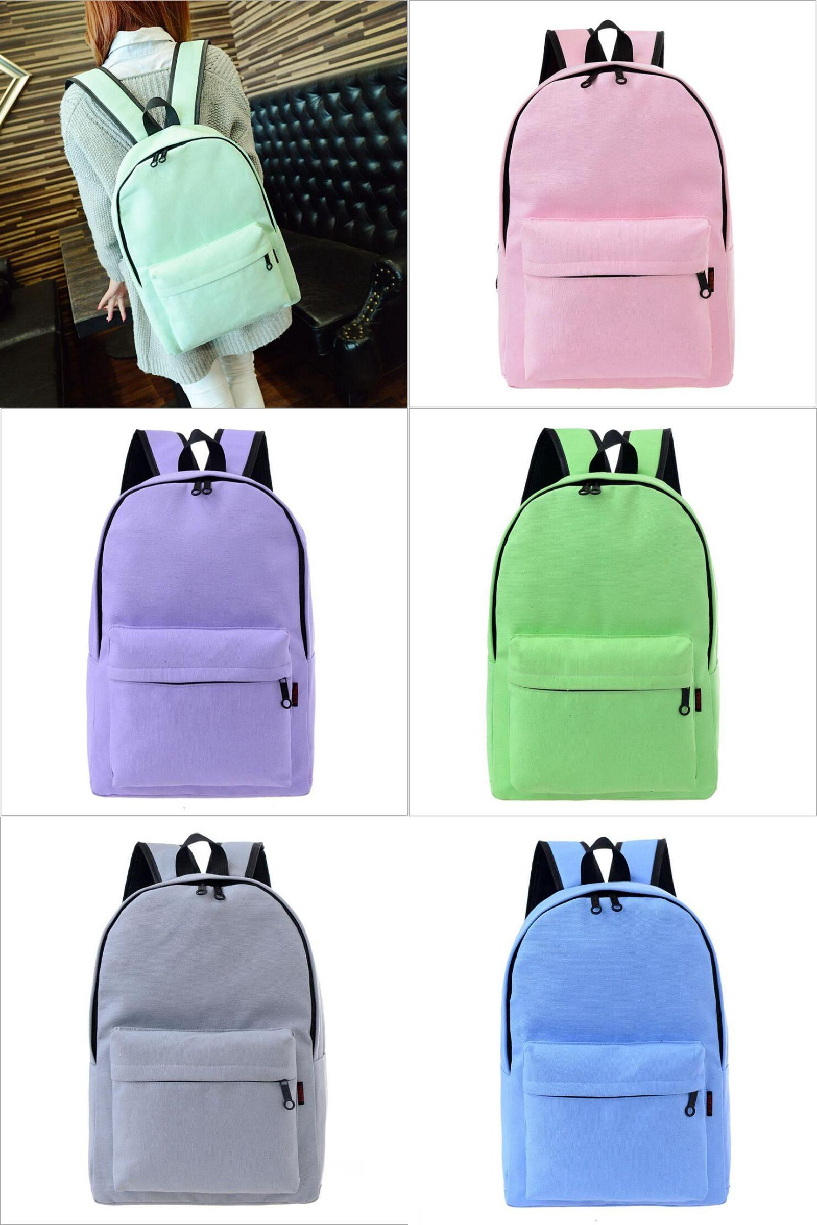 visit to simple korean style pure candy color canvas women