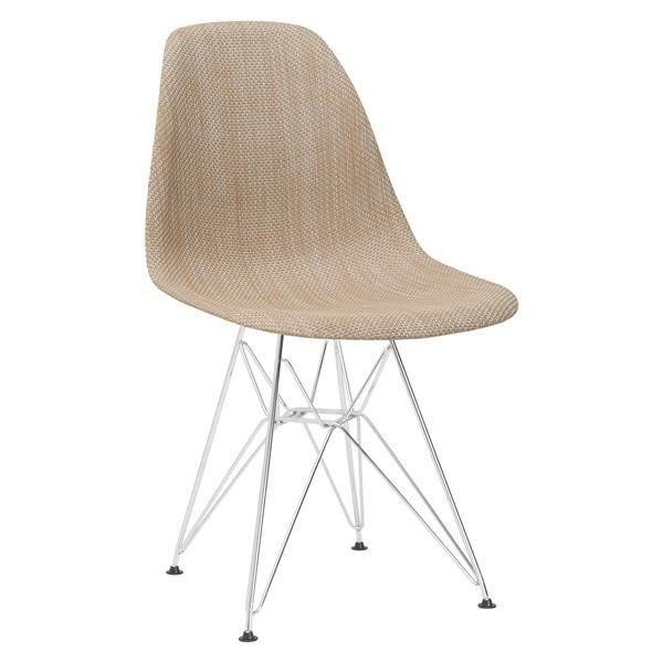 Edgemod Modern Woven Padget Dining Chair Beige, Dining Chairs - Edgemod Furniture, Minimal & Modern - 1