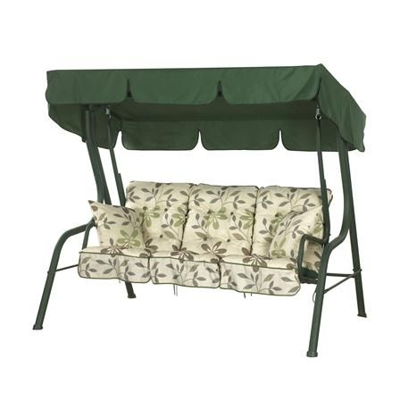 ACHICA | Camelot Hammock Green with Clematis Cushions