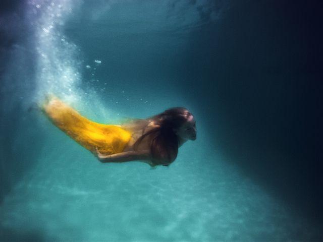There was a mermaid in my pool by R'eyes>>via Flickr!!