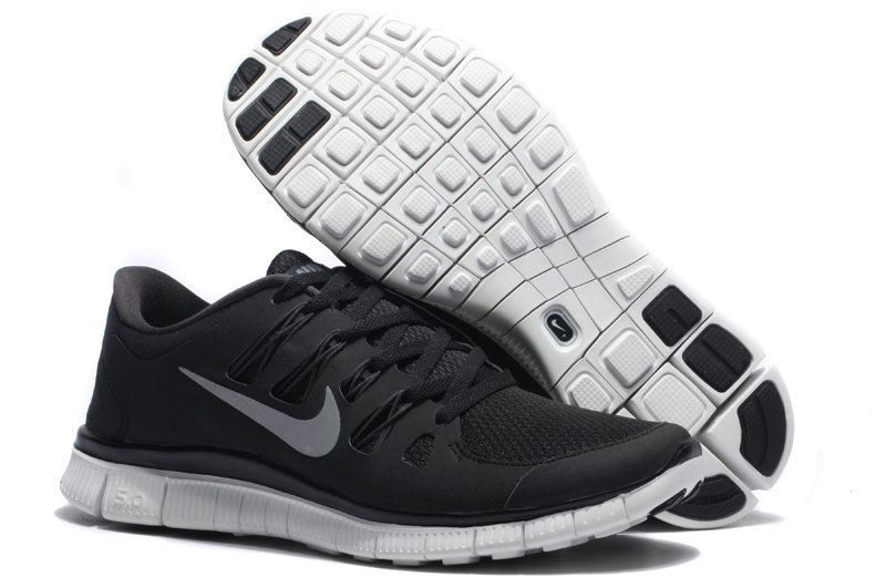 outlet store 57f2f b0235 ... Nike Free Run 5.0 v2 Couple Models Shoes Black and silver ...
