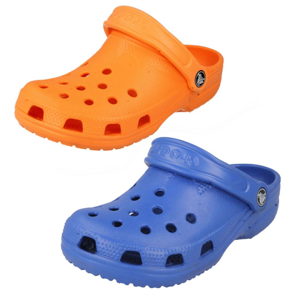 7457d2a010a82a LADIES CROCS CLOGS MULES SANDALS IN NEON ORANGE OR SEA BLUE - STYLE - BEACH