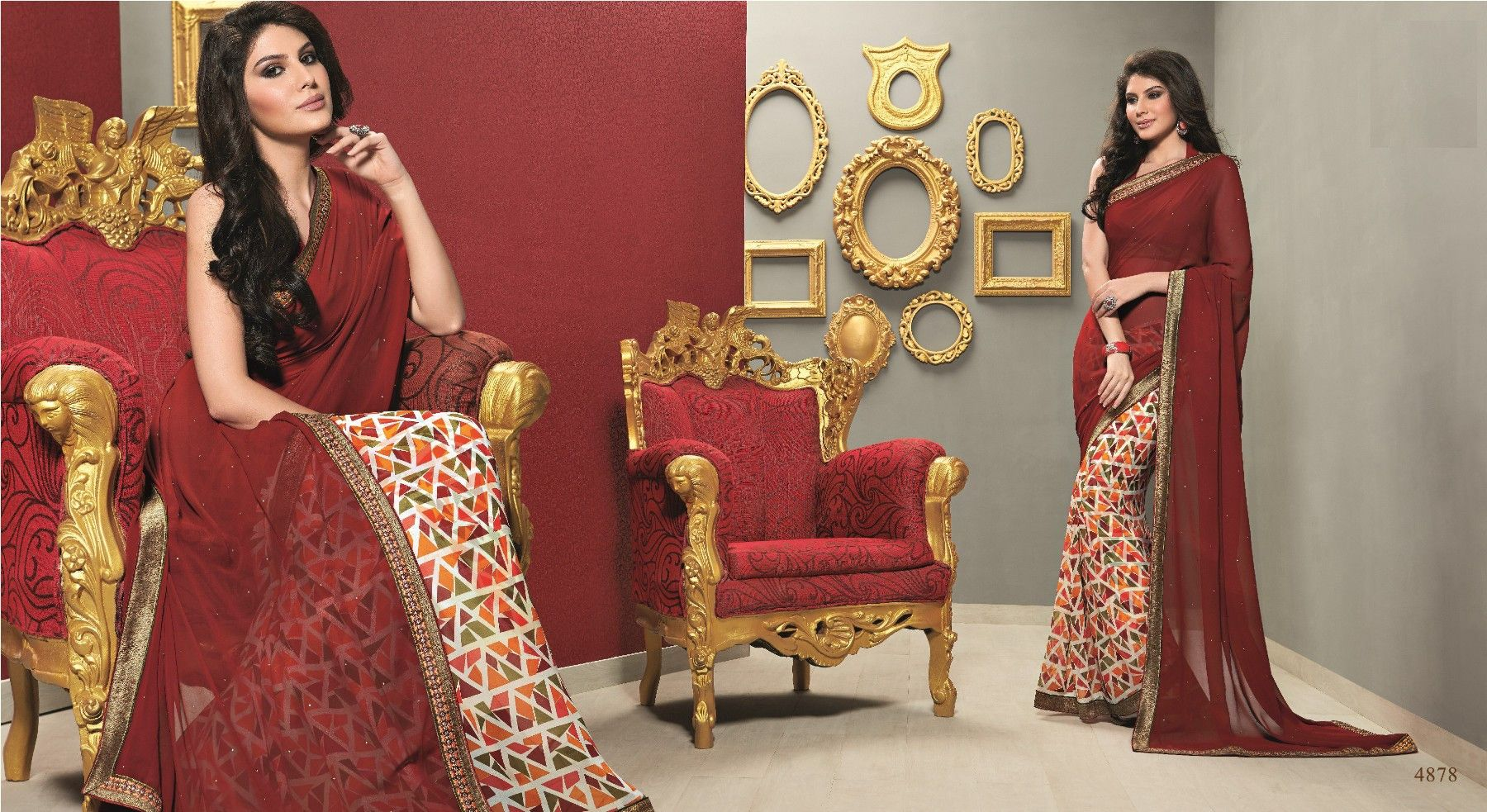 Picturesque Traditional Saree with Amazing Prints and Exquisite Colors