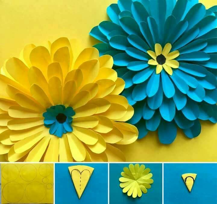 Pin by milagros castillo on paper pinterest flowers craft and paper flowers are so easy to make and so useful they can be used as wall decorations table decorations gift wrap accessories or even placed at either end mightylinksfo Images
