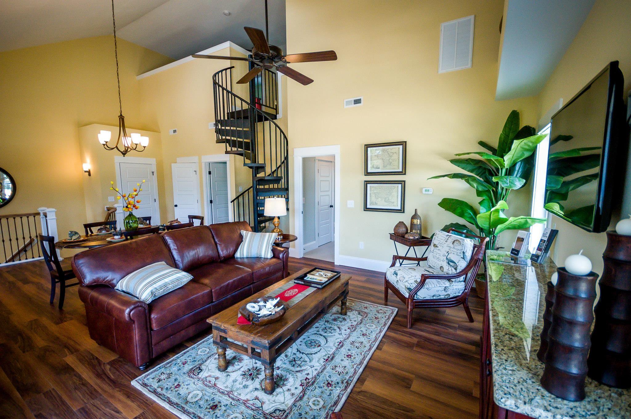 Villa Living Room - Classic Steel Spiral Stair | Spiral ...