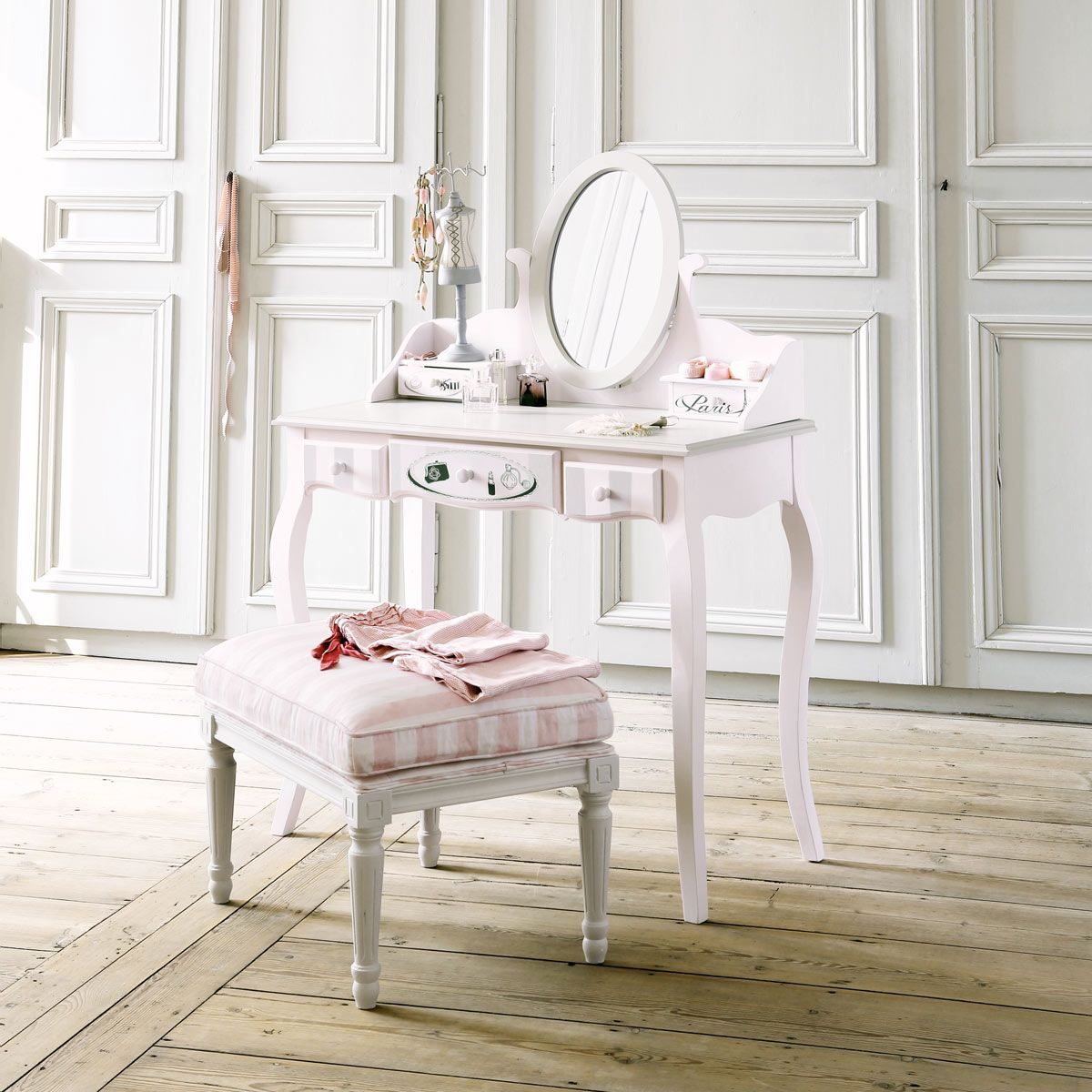 toeletta rosa in legno l 82 cm pink paris dressing tables and kids rooms. Black Bedroom Furniture Sets. Home Design Ideas