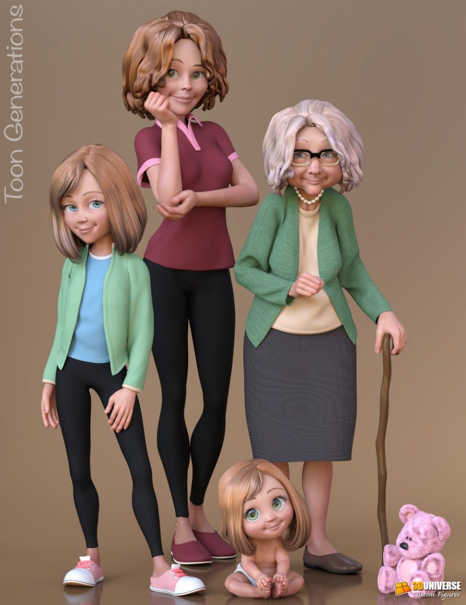 Toon Generations Essentials G8f Female Genesis Generation