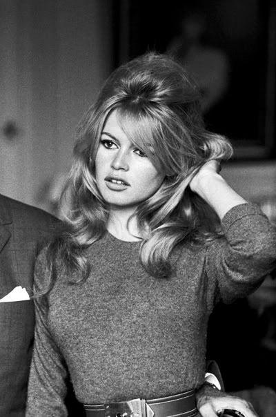 Brigitte Bardot. Hair. Sweater. Attitude.
