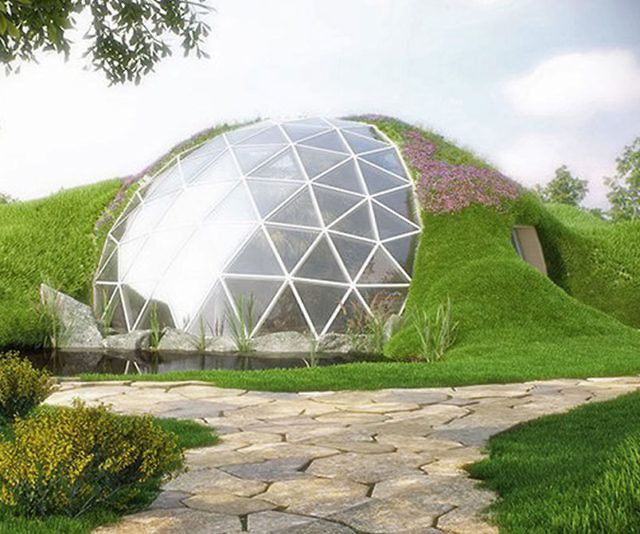Dome House Futuristic: Geodesic Glass Dome Home In 2019
