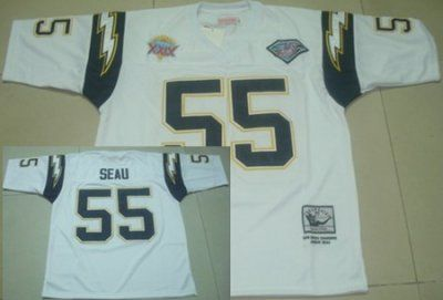 c1c26c2544b San Diego Chargers #55 Junior Seau White Super Bowl XXIX Patch Throwback  Jersey Price:$18.5