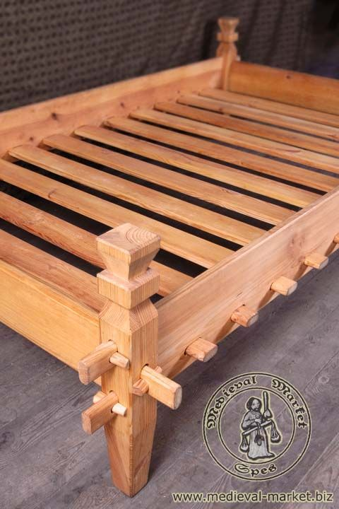 Viking Bed Frame Medieval Furniture Wood Viking Bed