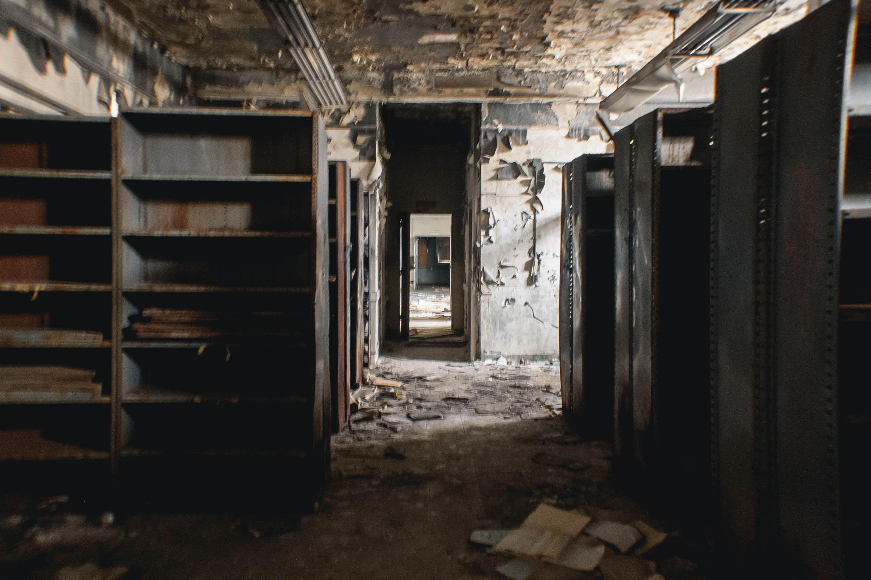 Take a Look Inside Downey's Creepy Abandoned Asylum | Fire damage, Fire,  Find a room