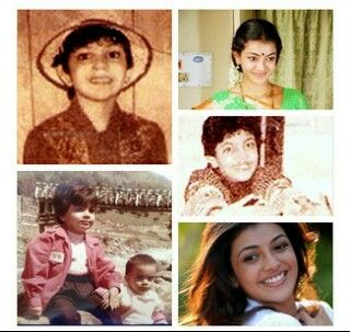 Rare Collage Of Childhood To Adulthood Pics Of Kajal Aggarwal Indian Film Actress Celebrity Photos Bollywood Stars