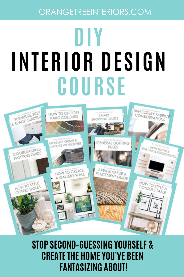 Have you ever struggled with how to decorate your home? Are you fairly confident in your abilities, but just need a few questions answered to ensure your home is beautiful? If so, take this DIY Interior Design Course. It'll teach you how to pick paint colors, the basics of room layout planning, give you smart shopping tips and so much more. #howtodecorate #interiordesign #interiordesigntips #homedecor #interiordecorating #interiordesigntips Less
