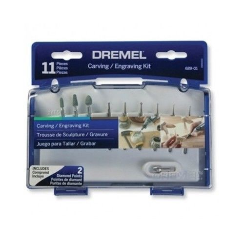 Engraving Tool Kit Dremel 11-Piece Rotary Carving Wood Glass Jewelry Carve Pen #Dremel