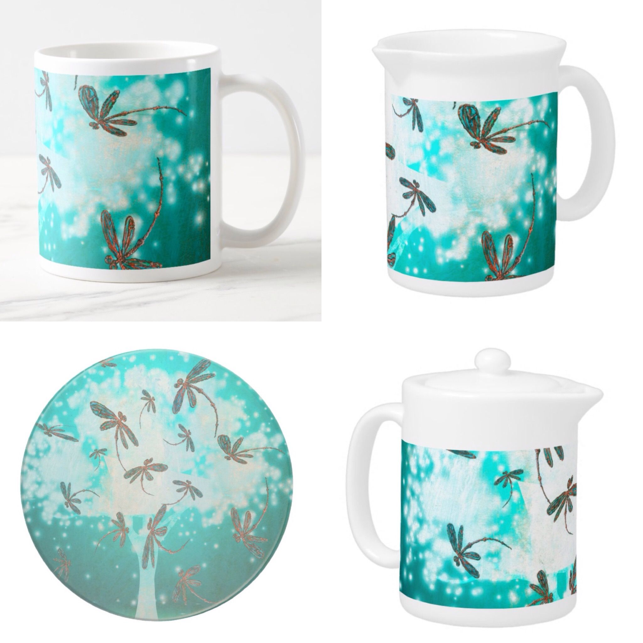 Dragonfly Glow Tree Drinks Collection For the tea and coffee lovers ...