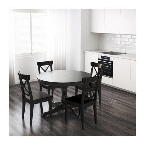Ronde Eettafel Uitschuifbaar Ikea.Ingatorp Uitschuifbare Tafel Zwart Eetkamer Ikea Tafel