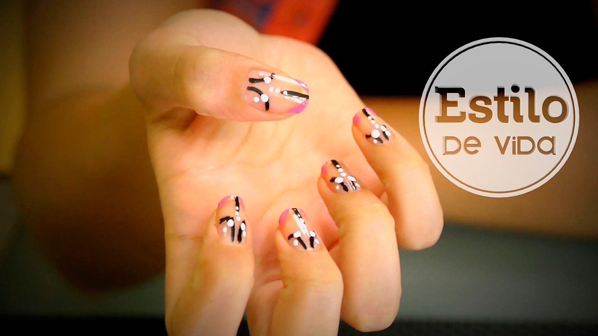 Diseño de uñas muy fácil #decoracion #manicura #nailart #abstracto ...