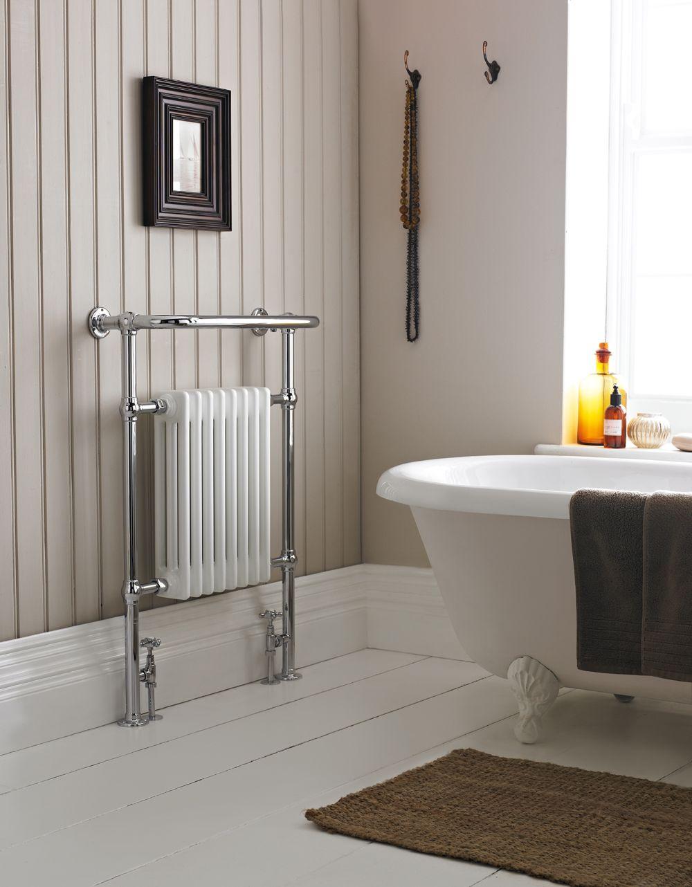 Small heated towel rails for bathrooms - Savoy Traditional Heated Towel Rail Radiator