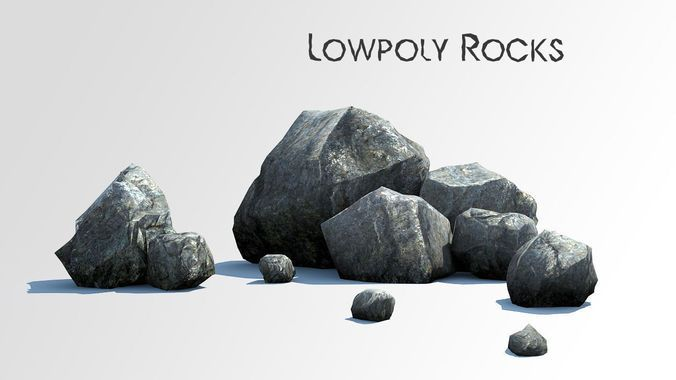 Download Rocks low poly asset free 3D model or browse 7844